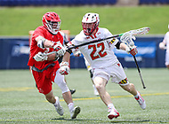 Annapolis, MD - May 20, 2018: Maryland Terrapins Wesley Janeck (22) in action during the quarterfinal game between Maryland vs Cornell at  Navy-Marine Corps Memorial Stadium in Annapolis, MD.   (Photo by Elliott Brown/Media Images International)