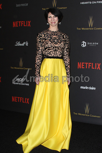 10 January 2016 - Los Angeles, California - Jessica Pohly. 2016 Weinstein Company & Netflix Golden Gloves After Party held at the Beverly Hilton Hotel. Photo Credit: AdMedia