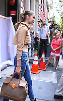 NEW YORK, NY-July 26: Gigi Hadid shooting a ReeBoks Commerical in New York. NY July 26, 2016. Credit:RW/MediaPunch