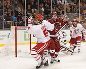 Chad Krys (BU - 5), Clay Anderson (Harvard - 5) - The Harvard University Crimson defeated the Boston University Terriers 6-3 (EN) to win the 2017 Beanpot on Monday, February 13, 2017, at TD Garden in Boston, Massachusetts.