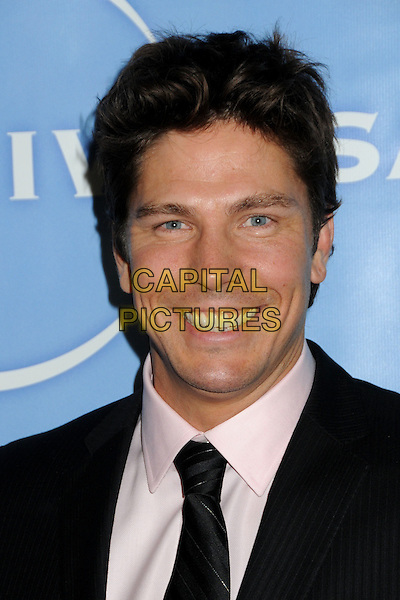 MICHAEL TRUCCO.NBC Universal Press Tour All-Star Party held at the Langham Huntington Hotel and Spa, Pasadena, California, USA, 13th January 2011..headshot portrait black white smiling.CAP/ADM/BP.©Byron Purvis/AdMedia/Capital Pictures.