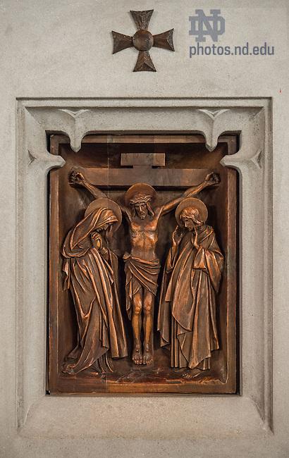 Dec. 9, 2014; Twelfth station: Jesus dies on the cross, in Alumni Hall chapel. (Photo by Matt Cashore/University of Notre Dame)