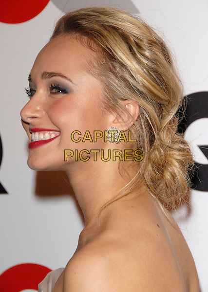HAYDEN PANETTIERE.The 2007 GQ Men of the Year Celebration at Chateau Marmont in West Hollywood, California, USA. .December 5th, 2007 .headshot portrait red lipstick gold earrings .CAP/DVS.©Debbie VanStory/Capital Pictures