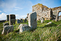 Cemetery and ruins of Trinity Temple, Carinish, North Uist, Outer Hebrides, Scotland
