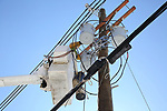 JCP&L Contracted Crews work on restoring power in Denville, New Jersey