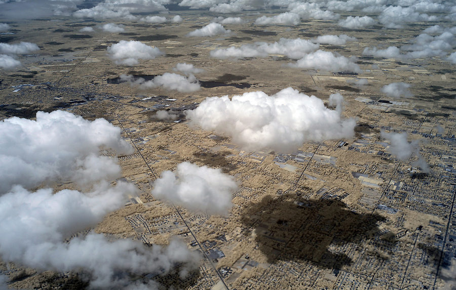 Clouds over Philadelphia photographed using infrared Canon 5D Mark II camera from U.S. Airways flight in late July 2014. Photo/Andrew Shurtleff