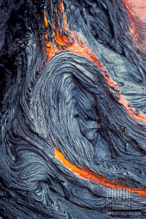Lava flow at Kilauea volcano, Hawaii Volcanoes National park