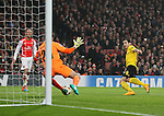 Arsenal's Emiliano Martinez saves from Dortmund's Henrikh Mkhitaryan<br /> <br /> UEFA Champions League- Arsenal vs Borussia Dortmund- Emirates Stadium - England - 26th November 2014 - Picture David Klein/Sportimage