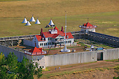 Fort Union on the banks of Missouri River