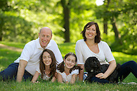 Family portrait with dog in Central Park