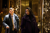 Trump adviser, Omarosa Manigault arrives at Trump Tower in Manhattan, New York, U.S., on Tuesday, December 13, 2016. <br /> Credit: John Taggart / Pool via CNP
