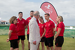 HRH Prince Charles meets officials and athletes of Team Wales (R-L) Cathy Williams Games Manager, James Ledger Athletics, Sally Peake Pole Vault, Adam Thomas Rugby 7's, Owen Jenkins Rugby 7's &amp; Nicola Phillips, Team Wales Chef de Mission <br /> <br /> *This image must be credited to Ian Cook Sportingwales and can only be used in conjunction with this event only*<br /> <br /> 21st Commonwealth Games  -  Day 1- 05\04\2018 - Kurrawa Surf Club - Gold Coast City - Australia