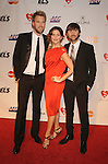 LOS ANGELES, CA. - January 29: Charles Kelley, Hillary Scott and Dave Haywood of Lady Antebellum (L-R) arrive at the 2010 MusiCares Person Of The Year Tribute To Neil Young at the Los Angeles Convention Center on January 29, 2010 in Los Angeles, California.
