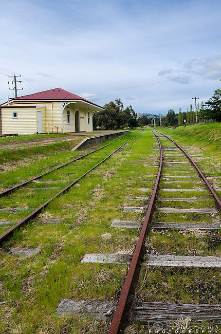 The disused station of Westerway in Tasmania, Australia. <br /> <br /> Westerway railway station was important as it was the starting point for the pack horse journey to the long abandoned Adamsfield osmiridium mine. As the timber industry became more important to the area, a sawmill was built and the number of timber mills in the area increased and the train line was used to transport logs to Boyer and Hobart. The Derwent Valley Railway was, until recently, used by tourists to visit the area.