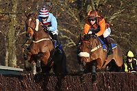 Otage de Brion ridden by Sam Whaley-Cohen (R) in jumping action during the New Year's Day Racing at Fakenham Handicap Chase