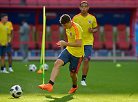 KAZAN - RUSIA, 23-06-2018: Santiago ARIAS jugador de Colombia, durante entrenamiento en Kazan Arena previo al encuentro del Grupo previo al encuentro del grupo H  con Polonia como parte de la Copa Mundo FIFA 2018 Rusia. / Santiago ARIAS player of Colombia during training session in KazanArena prior the group H match with Poland as part of the 2018 FIFA World Cup Russia. Photo: VizzorImage / Julian Medina / Cont