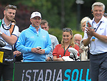 England's James Jordan with wife Ola Jordan<br /> <br /> Celebrity Cup 2019 - Golf - Celtic Manor resort - Saturday 13th July 2019 - Newport<br /> <br /> © www.fotowales.com- PLEASE CREDIT IAN COOK