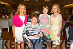 Bridie Courtney, Mary Milward, Breda Byrne and Grainne McPolin attending the Irish Wheelchair Association Summer party in the Ballyroe Heights Hotel on Sunday