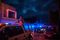 Policia Estatal, State Police officers patrol the streets on July 07, 2016 in Xalapa,  in the state of Veracruz, Mexico. <br /> Photo Daniel Berehulak for the New York Times