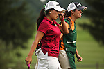 Jenny Suh pulls away a tear after winning the playoff round during Alliance Bank Golf Classic in Syracuse, NY.