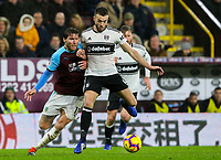 Burnley's Jeff Hendrick battles with Fulham's Calum Chambers<br /> <br /> Photographer Alex Dodd/CameraSport<br /> <br /> The Premier League - Burnley v Fulham - Saturday 12th January 2019 - Turf Moor - Burnley<br /> <br /> World Copyright © 2019 CameraSport. All rights reserved. 43 Linden Ave. Countesthorpe. Leicester. England. LE8 5PG - Tel: +44 (0) 116 277 4147 - admin@camerasport.com - www.camerasport.com