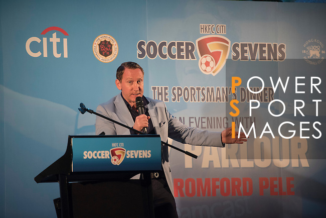 Ray Parlour speaks during the Gala dinner for the opening of the HKFC Citi Soccer Sevens on 19 May 2016 at the Hong Kong Football Club, Hong Kong, China. Photo by Lim Weixiang / Power Sport Images