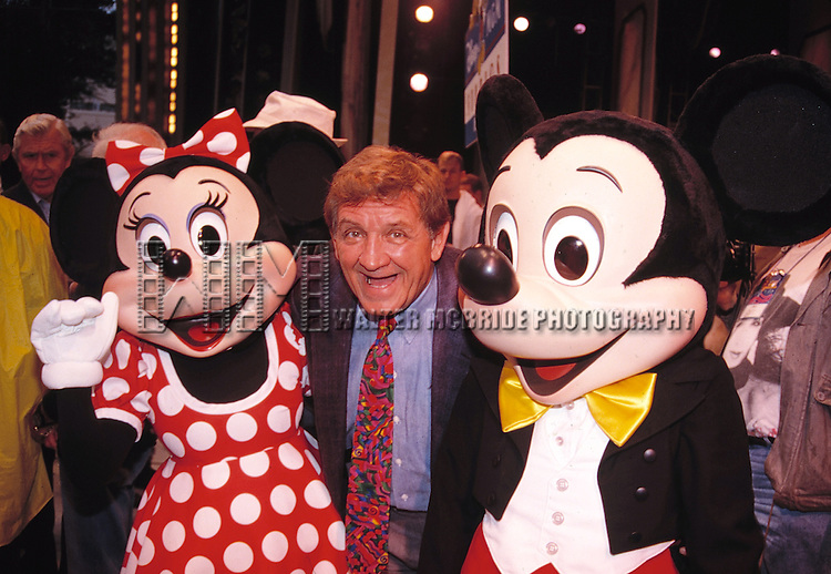 George Lindsey with Mickey & Minnie Mouse attending an ANDY GRIFFITH SHOW Reunion at the Disney MGM Studios, Walt Disney World Theme Park in Orlando, Florida. August 11, 1992