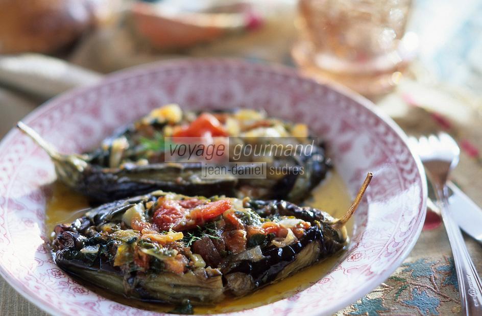 "Europe et Asie /Turquie/Istanbul: Restaurant ""Zeyrekhane"" Quartier Unkapani - Aubergine farcie"