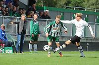 VOETBAL: JOURE: Sportpark Hege Simmerdyk, 06-09-2015, SC Joure - VV Bergum, Eindstand 2-1, Erwin IJdel (#2),  Hidde Veldman (#4), ©foto Martin de Jong