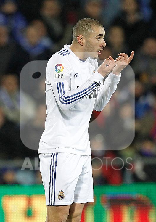 Real Madrid's Karim Benzema during la Liga match on January 3rd 2011...Photo: Cesar Cebolla / ALFAQUI