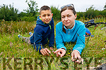 Owais Shaikh and Josia Horajska who found the rare orchid on the Listowel/Tralee by pass on Tuesday