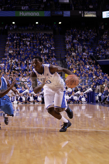 Freshman Guard Archie Goodwin drives inside during the first half of the University of Kentucky vs. Northwood Basketball exhibition game at Rupp Arean in Lexington, Ky., on, {November} {1}, {2012}. Photo by Jared Glover | Staff