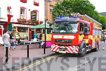 Killarney fire brigade arrive to tackle the fire over the Laurels bar at Market Square Killarney on Thursday evening