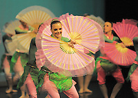 Die Showdance - Formation MENARI aus Geisenheim tanzt am Samstag, 21.11.09, in Marl. Die Deutsche Meisterschaft im Showdance 2009 fand im Marler Theater statt. <br /> Foto: Rainer Raffalski / WAZ FotoPool