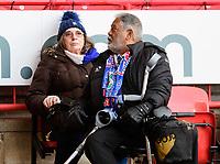 Blackburn Rovers fans enjoy the pre-match atmosphere <br /> <br /> Photographer Chris Vaughan/CameraSport<br /> <br /> The EFL Sky Bet Championship - Sheffield United v Blackburn Rovers - Saturday 29th December 2018 - Bramall Lane - Sheffield<br /> <br /> World Copyright &copy; 2018 CameraSport. All rights reserved. 43 Linden Ave. Countesthorpe. Leicester. England. LE8 5PG - Tel: +44 (0) 116 277 4147 - admin@camerasport.com - www.camerasport.com