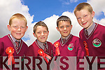 Padraig O'Sullivan, brothers Sean and James Ryan along with Jason Dalton from Athea National School whom all received their Confirmation last Friday in the local church..