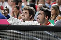 Spanish film director Juan Antonio Bayona during 2014 FIBA Basketball World Cup Quarter-Finals match.September 9,2014.(ALTERPHOTOS/Acero)