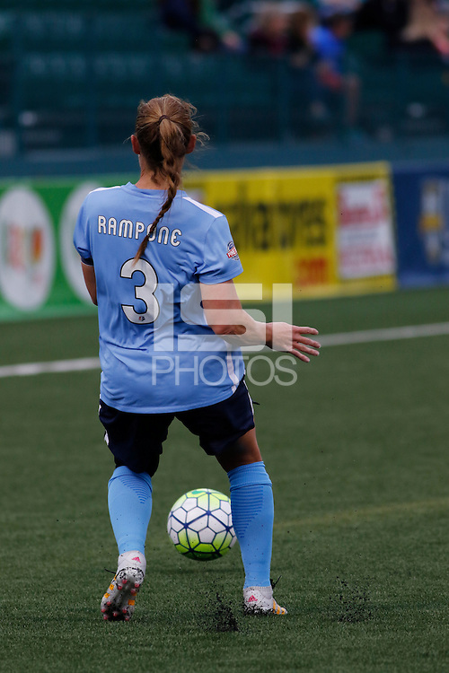 Rochester, NY - Saturday May 21, 2016: Sky Blue FC defender Christie Rampone (3). The Western New York Flash defeated Sky Blue FC 5-2 during a regular season National Women's Soccer League (NWSL) match at Sahlen's Stadium.