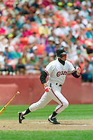 SAN FRANCISCO, CA - Will Clark of the San Francisco Giants bats during a game at Candlestick Park in San Francisco, California in 1989. Photo by Brad Mangin