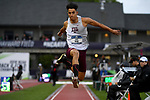 EUGENE, OR - JUNE 8: Tahar Triki of the Texas A&M Aggies wins the triple jump during the Division I Men's Outdoor Track & Field Championship held at Hayward Field on June 8, 2018 in Eugene, Oregon. (Photo by Jamie Schwaberow/NCAA Photos via Getty Images)