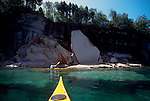 Sea kayakers, Pictured Rocks National Seashore, Lake Michigan, Upper Peninsula, Michigan, Great Lakes,