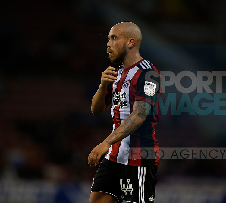 Samir Carruthers of Sheffield Utd during the Carabao Cup, second round match at Bramall Lane, Sheffield. Picture date 22nd August 2017. Picture credit should read: Simon Bellis/Sportimage