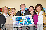 The Adult Education Art/Draw/Photography and Flower class at Killarney Community College presented Recovery Haven a work of art at the Adult Education Art/Draw/Photography and Flower class exhibition in Killarney Community College on Thursday evening l-r: Siobhain O'Brien, Siobhain McSweeney Recovery Haven, John Keane Director of Adult Education, Amelie Gagne Art Tutor and Ann Hickey ......