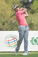 Brett Rumford (AUS) watches his tee shot on 18 during round 2 of the World Golf Championships, Mexico, Club De Golf Chapultepec, Mexico City, Mexico. 3/2/2018.<br /> Picture: Golffile | Ken Murray<br /> <br /> <br /> All photo usage must carry mandatory copyright credit (&copy; Golffile | Ken Murray)