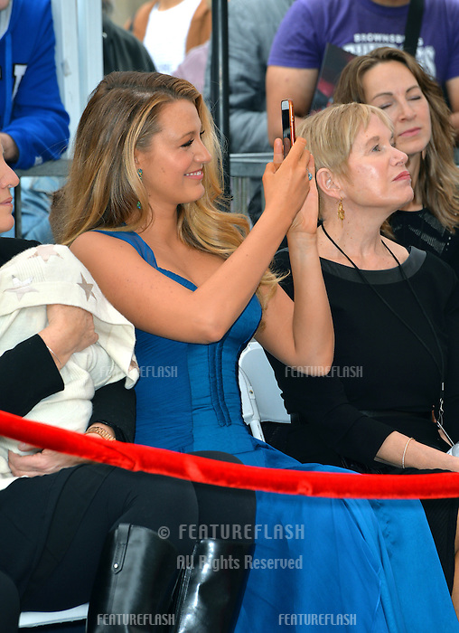 Actress Blake Lively &amp; Tammy Reynolds (Ryan's mother) at the Hollywood Walk of Fame Star Ceremony honoring actor Ryan Reynolds.<br /> Los Angeles, CA. <br /> December 15, 2016<br /> Picture: Paul Smith/Featureflash/SilverHub 0208 004 5359/ 07711 972644 Editors@silverhubmedia.com