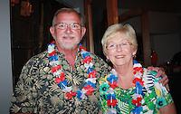 NWA Democrat-Gazette/CARIN SCHOPPMEYER Bill and Jean Bower attend the Beach Bingo Bash.