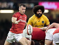 Wales' Gareth Davies clears<br /> <br /> Photographer Simon King/CameraSport<br /> <br /> International Rugby Union - 2017 Under Armour Series Autumn Internationals - Wales v Australia - Saturday 11th November 2017 - Principality Stadium - Cardiff<br /> <br /> World Copyright &copy; 2017 CameraSport. All rights reserved. 43 Linden Ave. Countesthorpe. Leicester. England. LE8 5PG - Tel: +44 (0) 116 277 4147 - admin@camerasport.com - www.camerasport.com