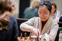 29th December 2019, Moscow, Russia;  Song Yuxin R of China and Anastasiya Geller of Russia compete in the final round of the 2019 King Salman World Chess Rapid Women Championship in Moscow, Russia