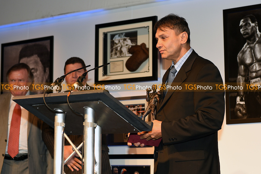 Chris Sanigar receives the Services to Boxing Award during the British Boxing Board of Control Awards 2015 at the Novotel London West, Hammersmith, London on 25/09/2015