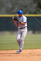 Seton Hall Pirates shortstop Chris Chiaradio (5) during a game against the Indiana Hoosiers on March 5, 2016 at North Charlotte Regional Park in Port Charlotte, Florida.  Seton Hall defeated Indiana 6-4.  (Mike Janes/Four Seam Images)